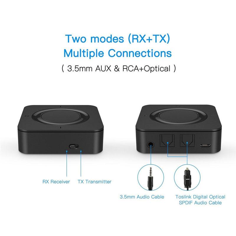 قیمت گیرنده و فرستنده صدا بلوتوثی 2 در 1 مدل BT4842B مناسب برای سیستم های استریو خانگی و تلویزیون