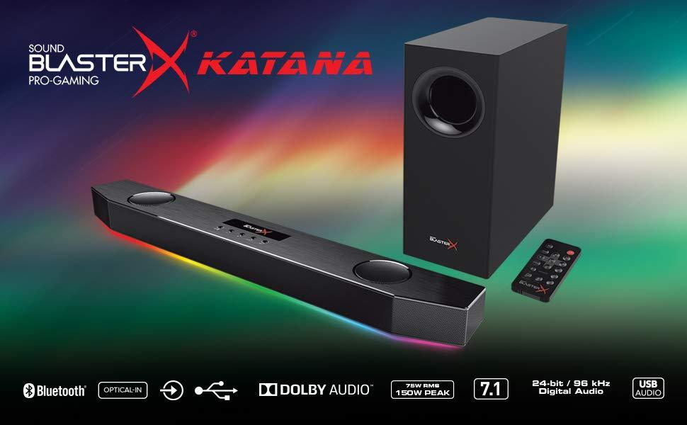 ساندبار کریتیو مدل Sound Blasterx Katana با توان خروجی 75 وات