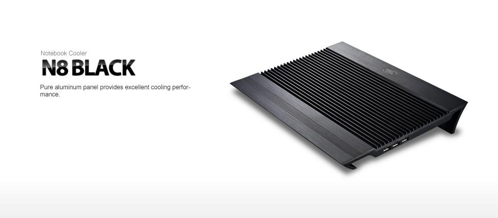 پایه خنک کننده لپ تاپ دیپ کول مدل N8 Black