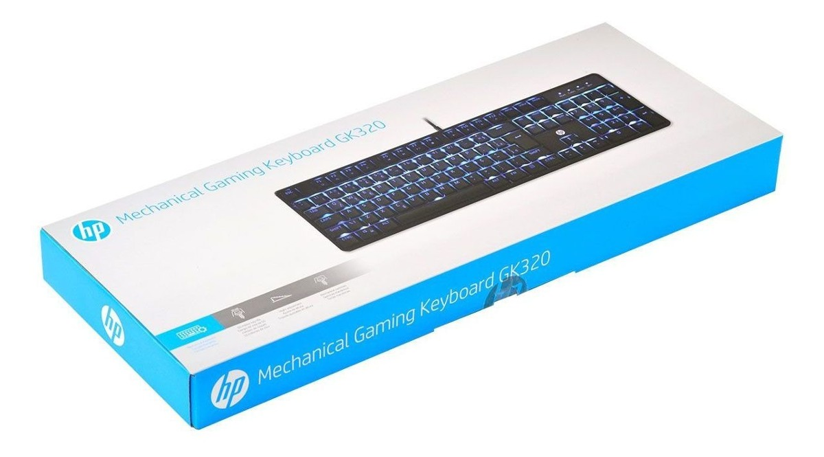 خرید کیبورد با سیم اچ پی مدل HP GK320
