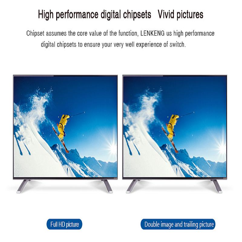 سوییچ 1 به 3 HDMI لنکنگ مدل LKV331A باکیفیت 4K و 2K