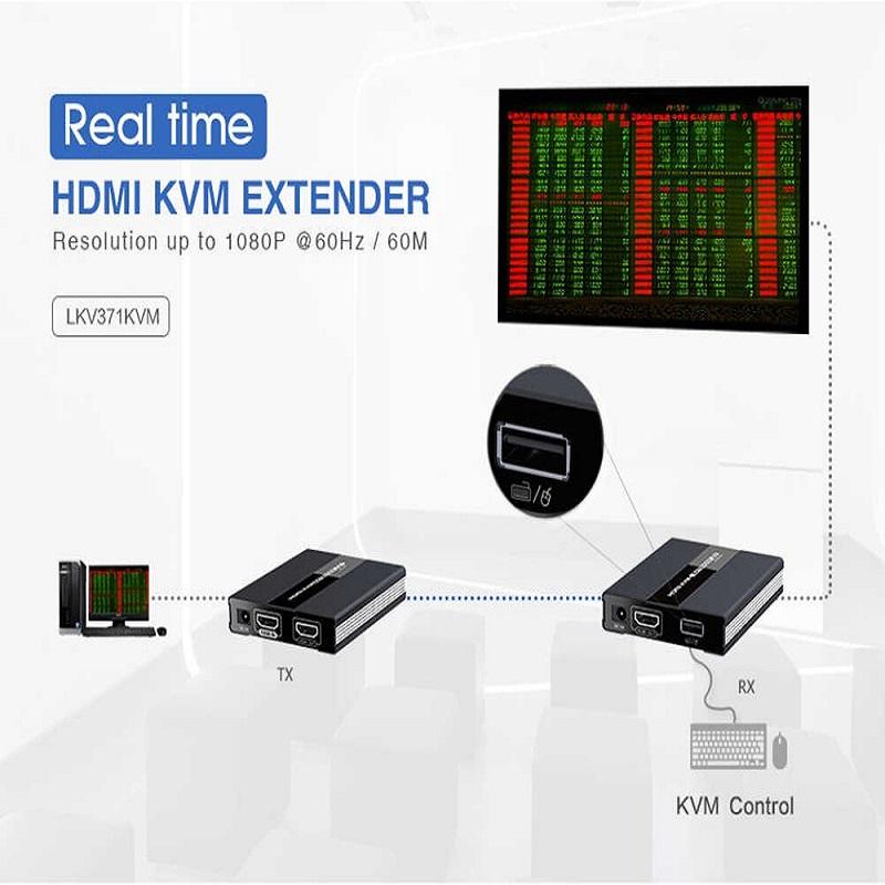 اسپلیتر کی وی ام HDMI لنکنگ مدل LKV371KVM