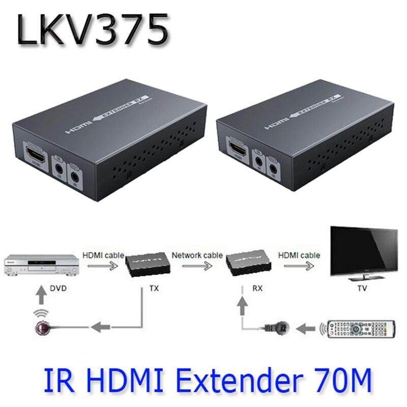 قیمت خرید انتقال دهنده و توسعه دهنده صوت و تصویر کابلی لنکنگ مدل LKV375 با برد 70 متر