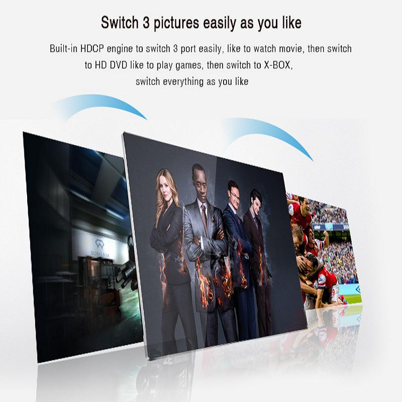 خرید سوییچ 1 به 3 HDMI لنکنگ مدل LKV331A باکیفیت 4K و 2K
