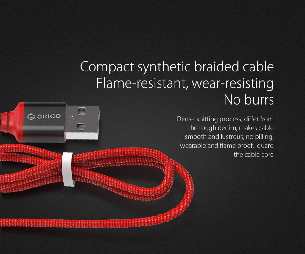 کابل تبدیل USB Type-C به USB 2.0 Type-A اوریکو مدل HTK-10-RD طول 1 متر