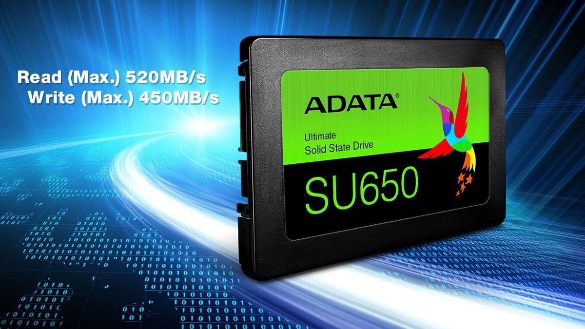 قیمت اس اس دی ای دیتا مدل SU650 با ظرفیت 240 گیگابایت