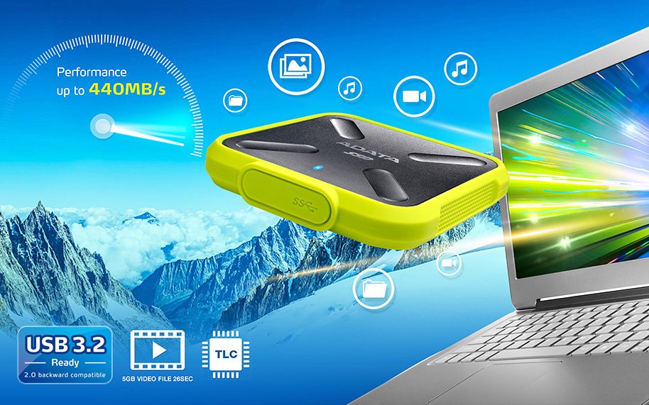 حافظه SSD ای دیتا مدل SD700 با ظرفیت 512 گیگابایت