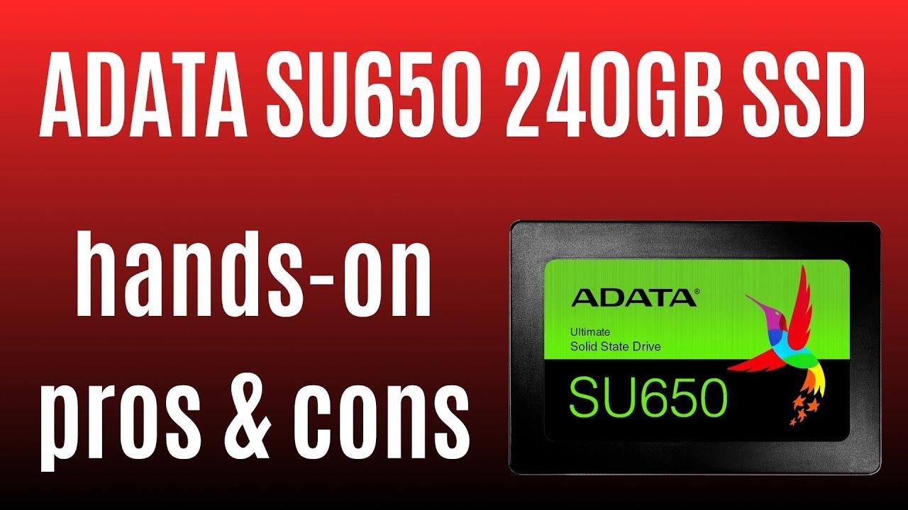 مشخصات و قیمت اس اس دی ای دیتا مدل SU650 با ظرفیت 240 گیگابایت