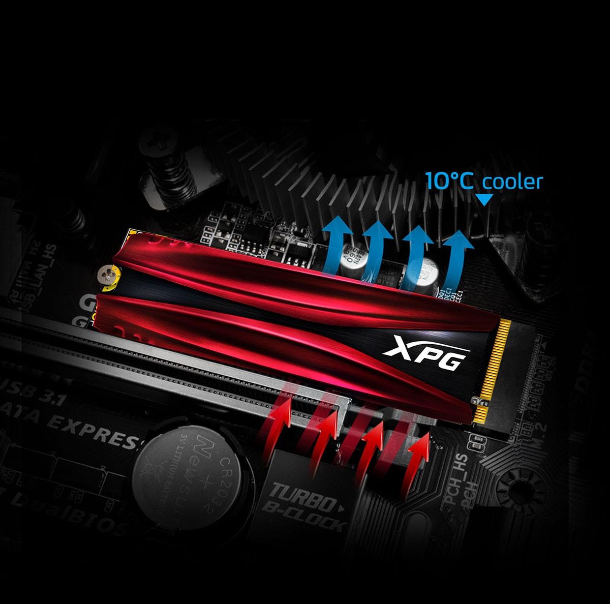 قیمت اس اس دی اینترنال ایکس پی جی مدل GAMMIX S11 Pro PCIe Gen3x4 M.2 2280 ظرفیت 256 گیگابایت