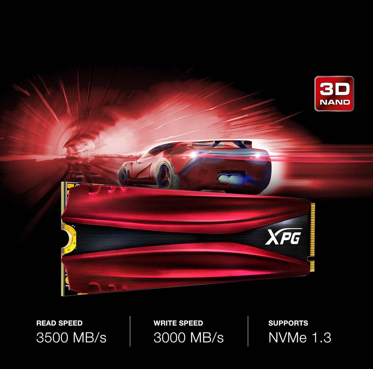 اس اس دی اینترنال ایکس پی جی مدل GAMMIX S11 PCIe Gen3x4 M.2 2280 ظرفیت 512 گیگابایت