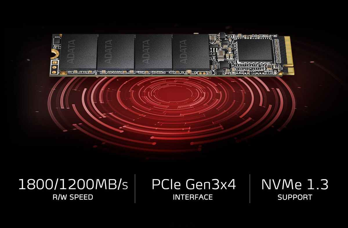 اس اس دی اینترنال ایکس پی جی مدل SX6000 M.2 2280 با ظرفیت 256 گیگابایت