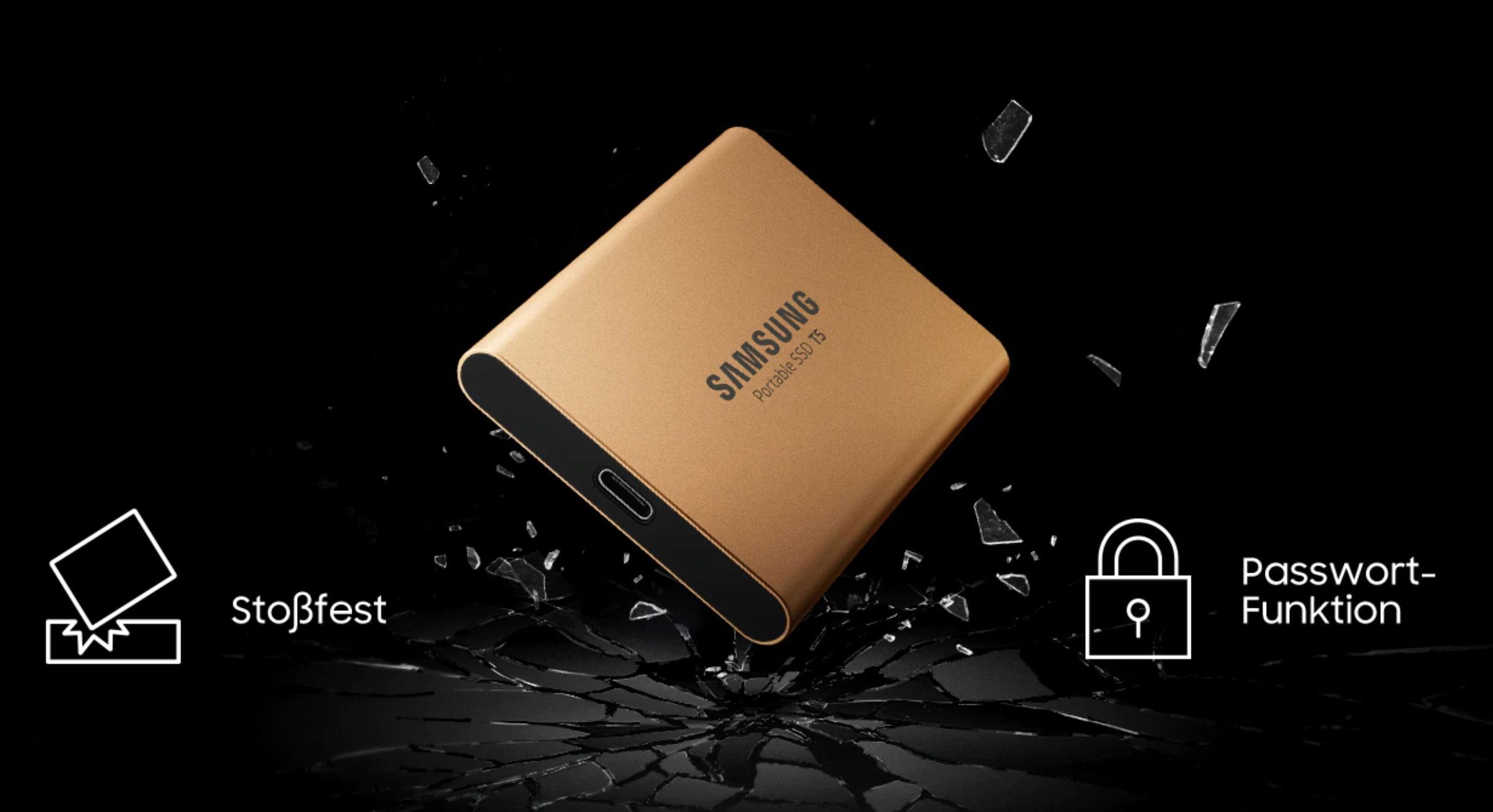 مشخصات و قیمت حافظه SSD اکسترنال سامسونگ مدل T5 با ظرفیت 1 ترابایت