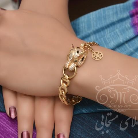 دستبند طلای پنتر MGM