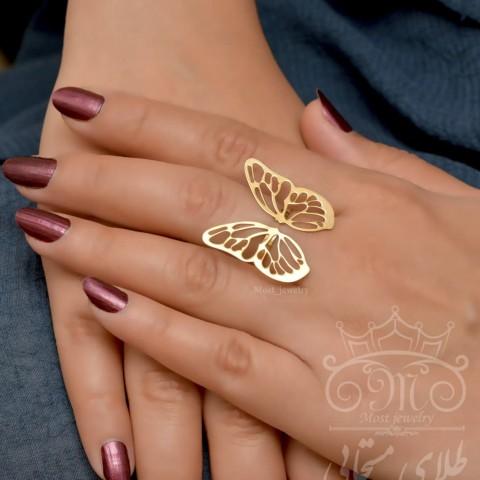 انگشتر پروانه طلا