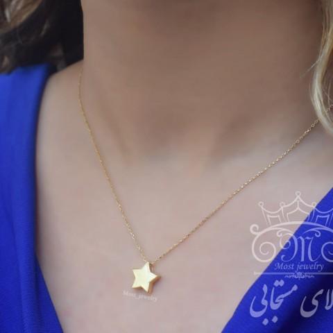 گردنبند طلای تک ستاره