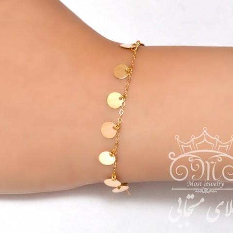دستبند پولکی طلا