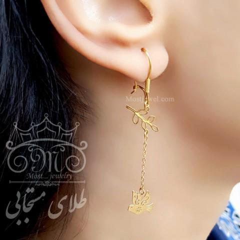 گردنبند طلای پرنده و شاخه