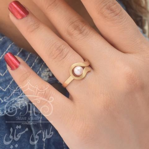 انگشتر طلا و مروارید