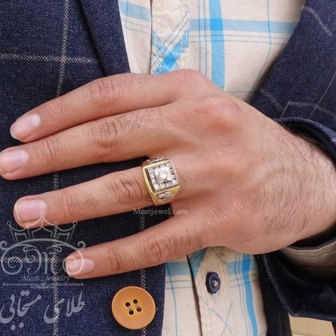 انگشتر طلای مردانه تام فورد