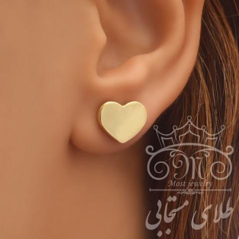 گلگوش طلای قلب سه بعدی