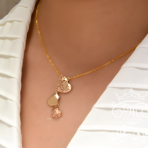 گردنبند طلای فانتزی قلب آوا