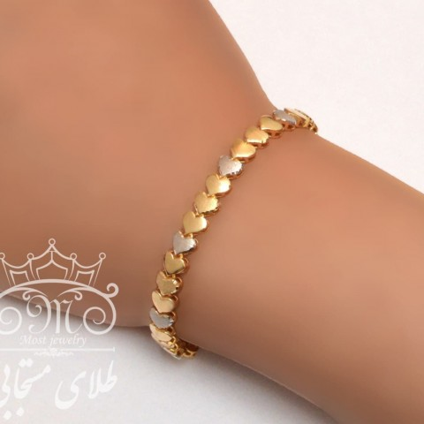 دستبند طلای قلب آوا