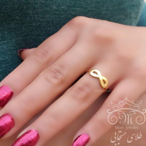 انگشتر طلای بینهایت براق