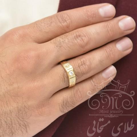 انگشتر طلای مردانه مستجابی
