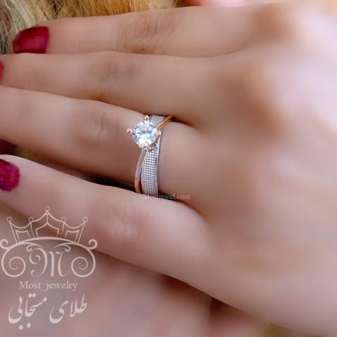 انگشتر طلای سولیتر آدرینا