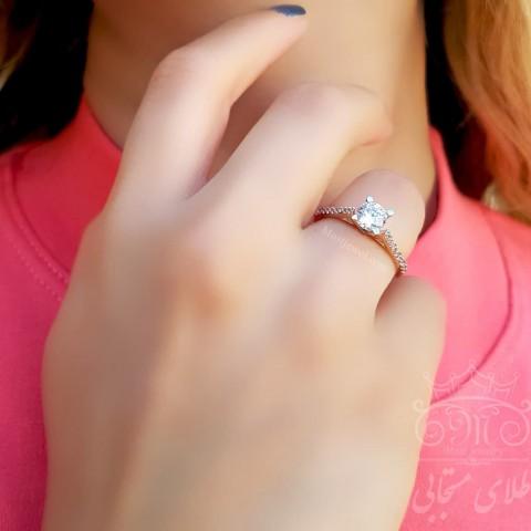 انگشتر طلای سولیتر رزگلد رادین