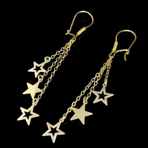 گوشواره طلای آویز ستاره