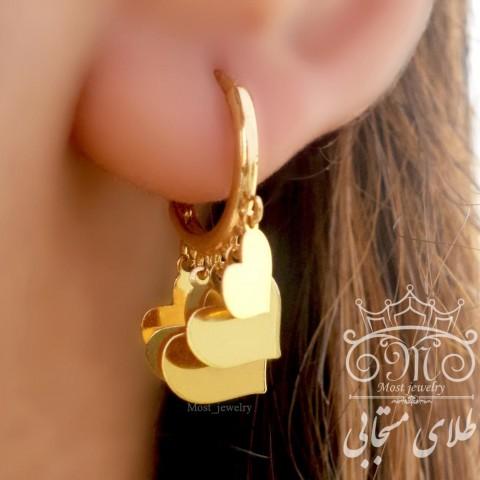 گوشواره طلای روکو  قلب