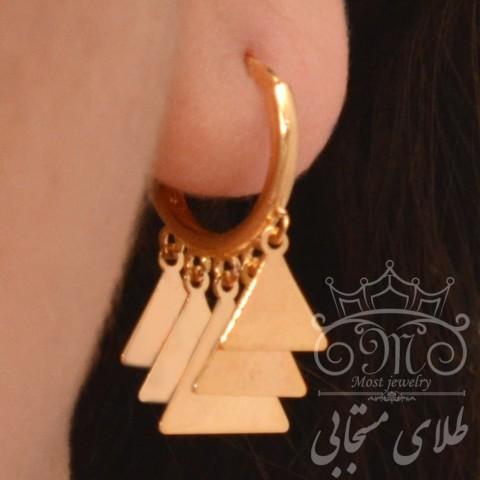 گوشواره طلای روکو مثلث