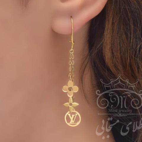 گوشواره طلای لویی ویتون