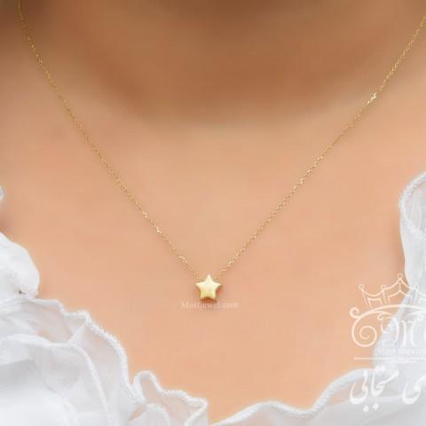 گردنبند طلای ستاره آذین