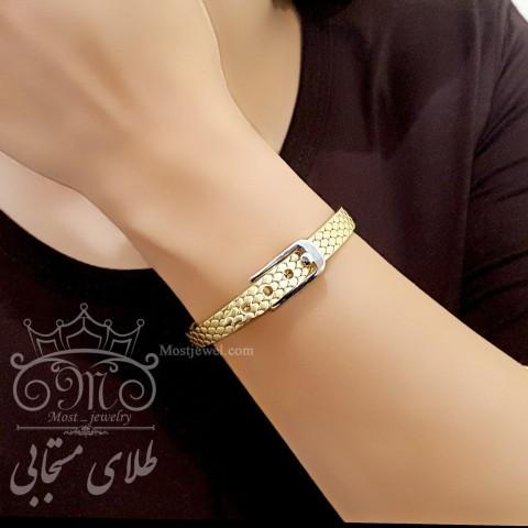 دستبند طلای کمربندی