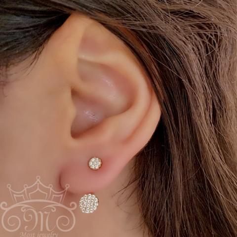 گوشواره لاله گوشی دایره