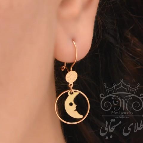 گوشواره طلای ماه