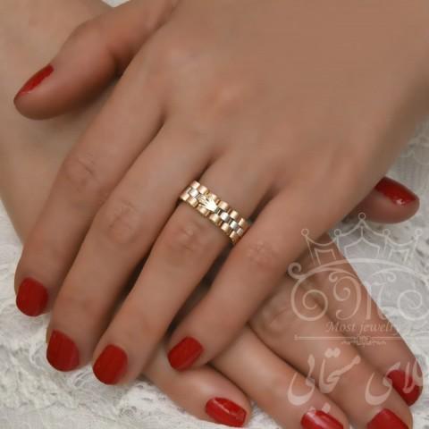 انگشتر طلای رولکس سفید رزگلد