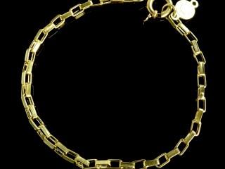 دستبند طلای زنجیری مردانه