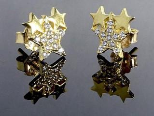گلگوش طلا طرح 3 ستاره