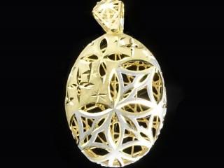 مدال آویز طلای فیوژن دو رنگ