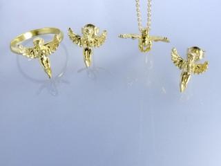 نیم ست طلا طرح فرشته