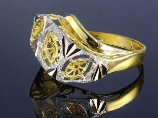 انگشتر فیوژن طلای دو رنگ مشبک