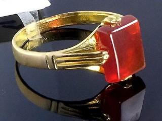 انگشتر طلا و عقیق سرخ