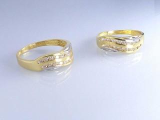 حلقه ست طلای دو رنگ