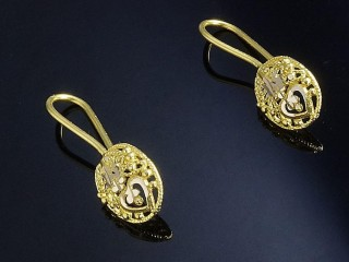 گوشواره ملیله طلا