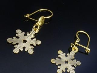گوشواره طلای لیزری طرح برف