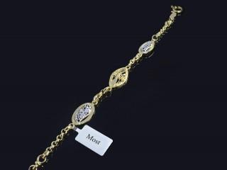 دستبند طلاطرح گل