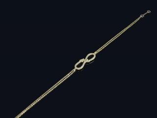 دستبند طلا طرح بینهایت و پیکان